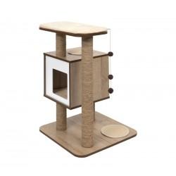 Mueble Rascador para Gatos V-Base Vesper - Roble Vesper