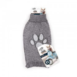 All For Paws Jersey Vintage Dog  - Huella Gris XS