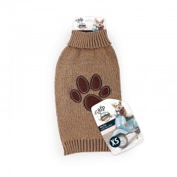 All For Paws Jersey Vintage Dog  - Huella Marrón XS