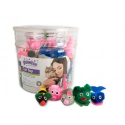 Pawise Cubo con Juguetes para Gatos  - Animal Party 72uds