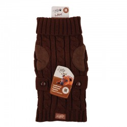 All For Paws Jersey LAM  - Wool Marrón Oscuro XS