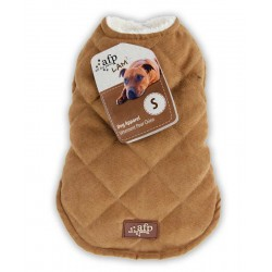 All For Paws Abrigo de borreguillo y ante Lam  - Diamantes Beige XS