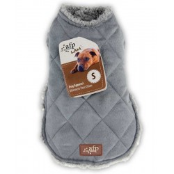 All For Paws Abrigo de borreguillo y ante Lam  - Diamantes Gris XS