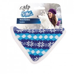 All For Paws Bandanas de Invierno Snow World - Azul
