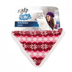 All For Paws Bandanas de Invierno Snow World - Rojo