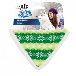 All For Paws Bandanas de Invierno Snow World - Verde