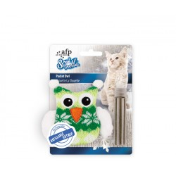 All For Paws Juguetes para Gatos Snow World - Búho de Bolsillo 10cm