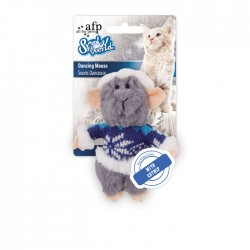All For Paws Juguetes para Gatos Snow World - Ratón Bailarín 16cm