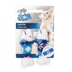 All For Paws Juguetes para Gatos Snow World - Pez Congelado 10cm