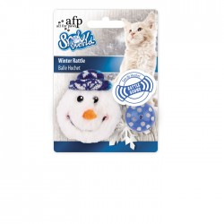 All For Paws Juguetes para Gatos Snow World - Cascabeles Invernales 9cm