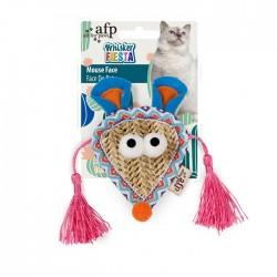 All For Paws Juguetes para gatos Whisker Fiesta - Cara de ratón 10,5x22x2cm