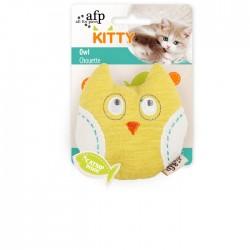 All For Paws Juguetes para gatitos Kitty  - Búho 9x8x3cm