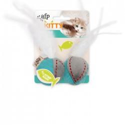 All For Paws Juguetes para gatitos Kitty  - Bolas de plumas 16x5x4,5cm