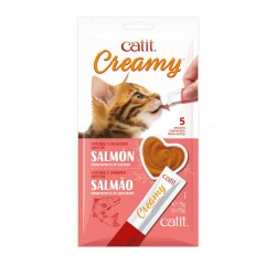 Catit Creamy Snack Cremoso Pack de 5 - Salmón