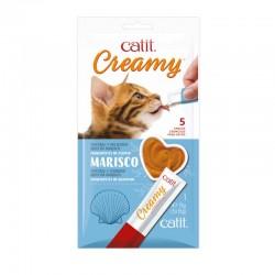 Catit Creamy Snack Cremoso Pack de 5 - Marisco