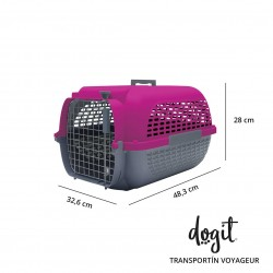 Transportin Dogit Voyageur - Peq.Fucsia/Gris