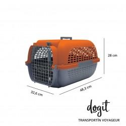 Transportin Dogit Voyageur - Peq.Naranja/Gris