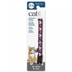 Collar ajustable de nailon Catit 20-33cm - Púrp./Rosa