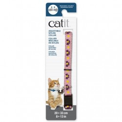 Collar ajustable de nailon Catit 20-33cm - Rosa/Púrp.