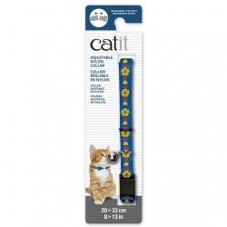 Collar ajustable de nailon Catit 20-33cm - Azul/Flor
