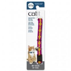 Collar ajustable de nailon Catit 20-33cm - Rosa/Flor