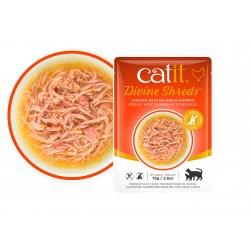 Catit Divine Shreds - Sopas de pollo para gatos - Salmón y calabaza