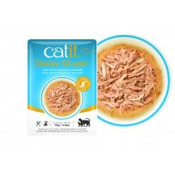 Catit Divine Shreds - Sopas de atún para gatos - Pollo y wakame