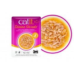 Catit Divine Shreds - Sopas de atún para gatos - Gambas y calabaza