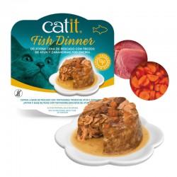 Catit Dinner comida húmeda de pescado 80g - Atún y zanahoria