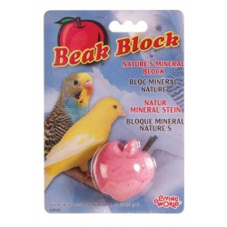 Bloque Mineral para Pájaros LIVING WORLD - Manzana