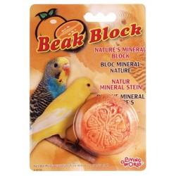 Bloque Mineral para Pájaros LIVINGWORLD - Naranja