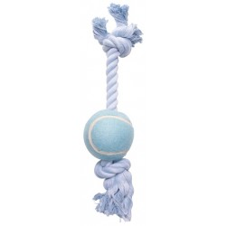 Cuerda Mordedor Algodón DOGIT - Azul con Pelota 30cm