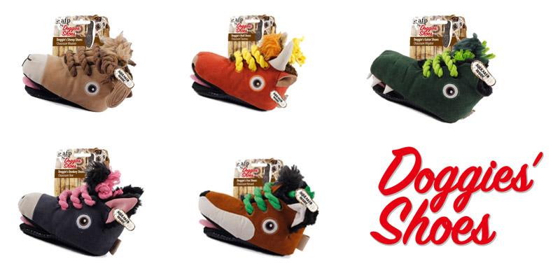 Peluches con diseño de botines para perros Doggie's Shoes