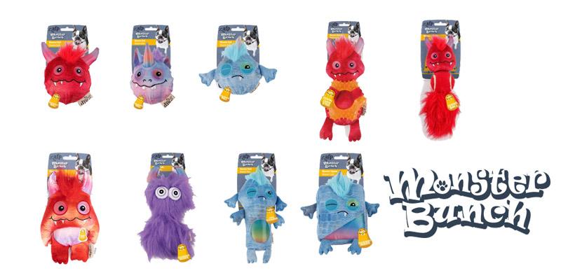 Colección de juguetes para perros Monster Bunch