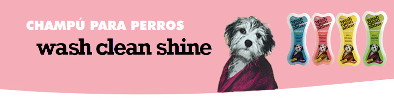 Champú para perros Wash Clean Shine de Quiko