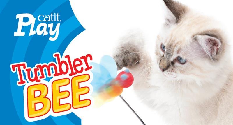 Juguete interactivo para gatos Tumbler Bee
