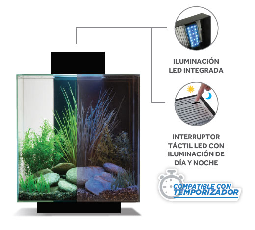 Iluminación LED para acuarios integrada