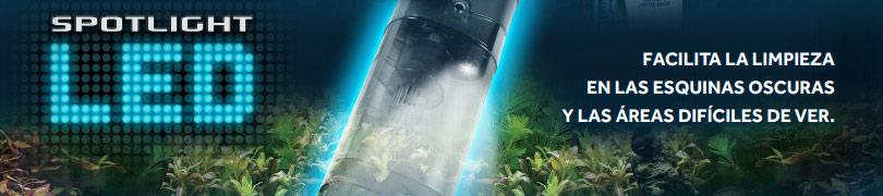 Aspiradora para acuarios con luz led