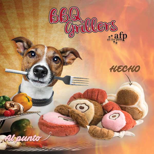 Peluches para perros BBQ Grillers