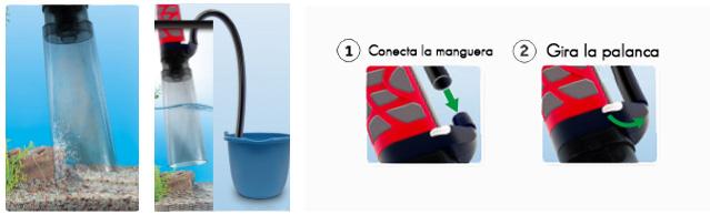 Aquavac+ aspirador de grava y cambio de agua del acuario