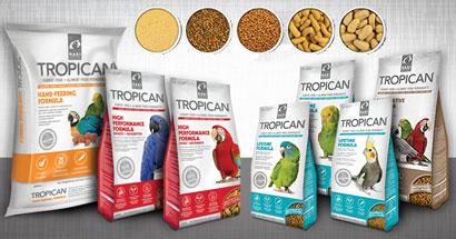 Nutrición completa para pájaros Tropican