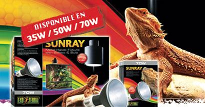 Iluminación solar para reptiles, SunRay