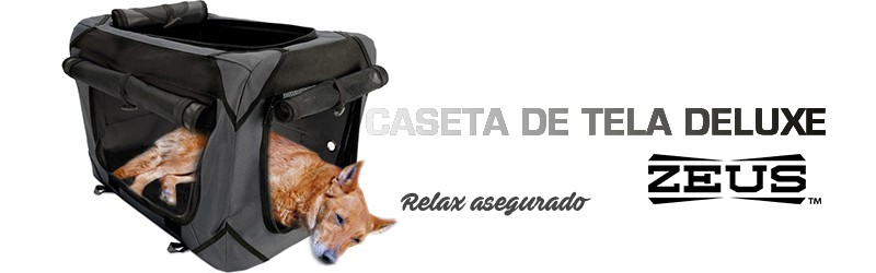 CASETA DE TELA DELUXE ZEUS GRIS Y NEGRA