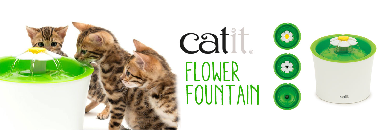 BEBEDERO FLOWER FOUNTAIN 3 L CATIT