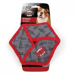 All For Paws Juguete Mighty Rex con Tela Balistica  - Hexagono 19cm
