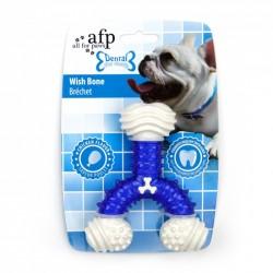All For Paws Jugetes Dental Dog Chews - Hueso de Los Deseos Dental - Sabor a Pollo 12,5cm