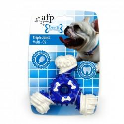 All For Paws Jugetes Dental Dog Chews - Triple Joint Dental - Sabor a Pollo 12,5cm
