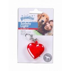 Pawise Luz de Seguridad para el collar  - Corazón