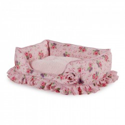 All For Paws Cunas Shabby Chic para perros  - Bolster Rosa M 46x30x14cm