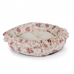 All For Paws Cunas Shabby Chic para perros  - Redonda M Crema 42cm